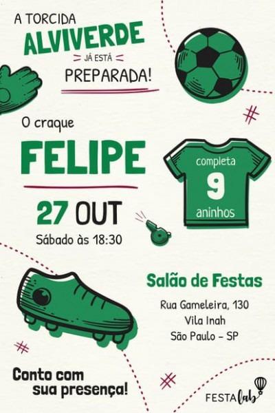 Convite Palmeiras