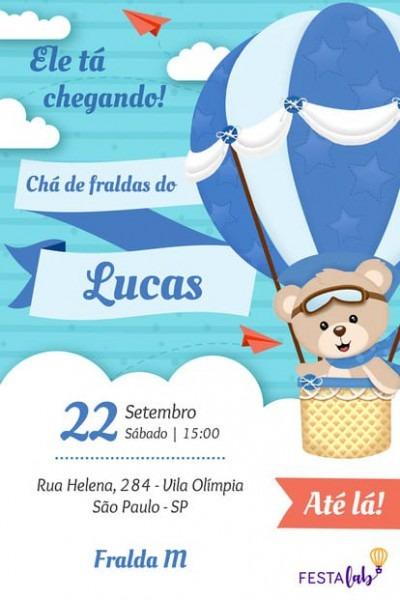Convite De Chá De Bebê