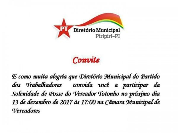 Atonio Soares Toma Posse Como Vereador Na Câmara Municipal Logo