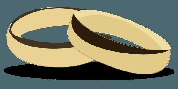 Anéis Casamento Desbotada