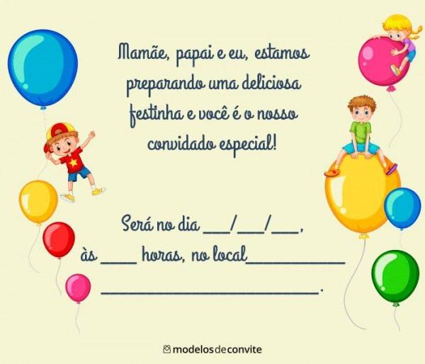 Frases Para Convite De Aniversário Infantil – Modelos De Convite