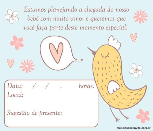 15 Frases Para Convite De Chá De Bebê – Modelos De Convite