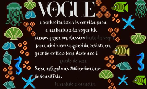 Convite Baile Da Vogue