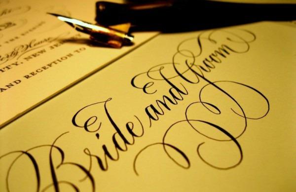 Caligrafia Para Convites De Casamento  Dicas E Tendências – Aprendeaí