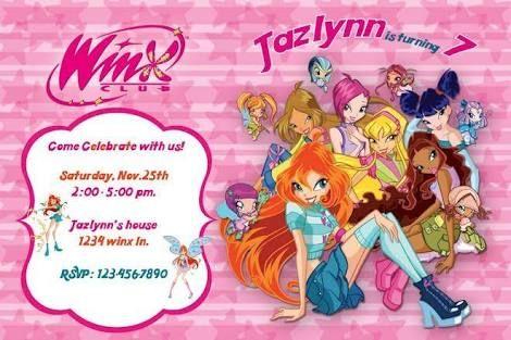 Resultado De Imagem Para Winx Party Invitations