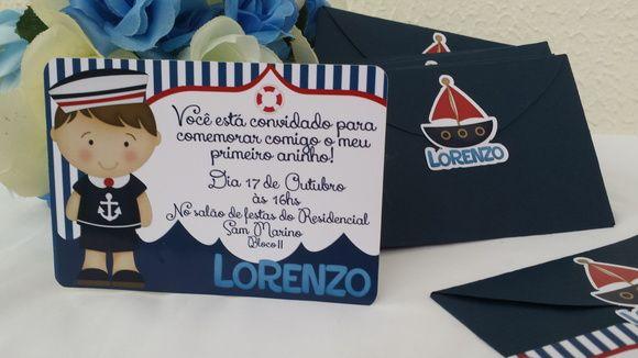 Convite Personalizado Com Envelope Em Tamanho 7x10, E Tag Frontal