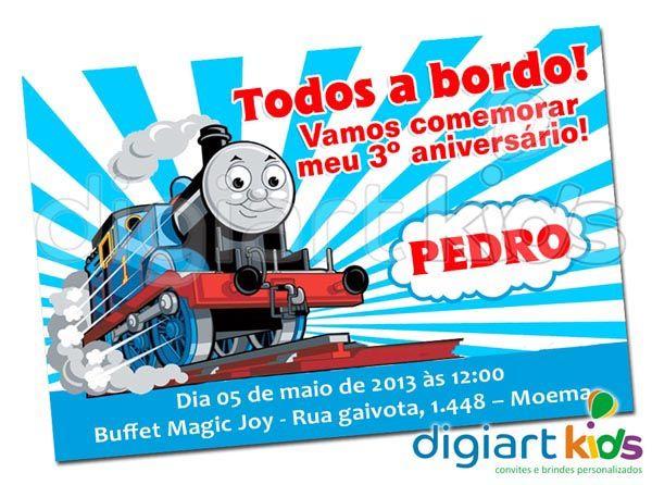 Convite Personalizado Thomas E Seus Amigos Mod 03