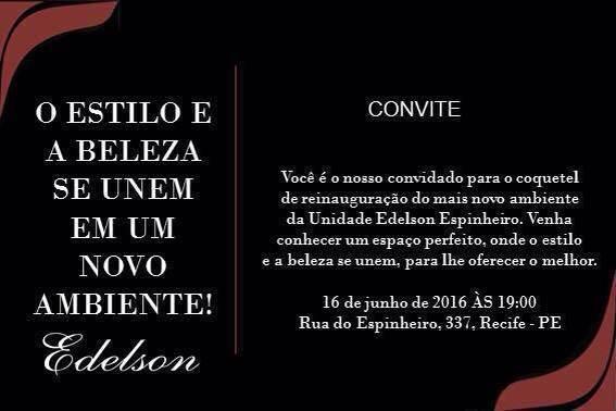 Pernambucotem Reinauguração Do Salão E Barbearia Edelson