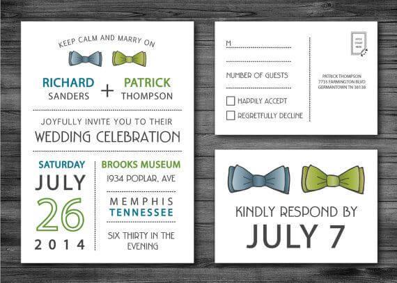 10 Modelos De Convites Para Casamento Gay