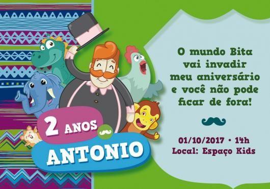 Convite Festa Mundo Do Bita Animais
