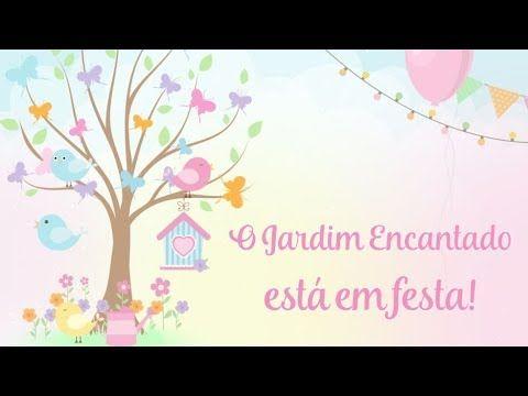 Convite Animado Jardim Encantado Das Borboletas E Dos Passarinhos