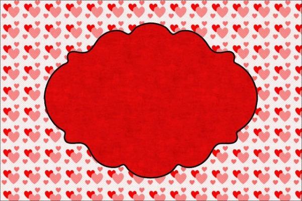 Coração E Vermelho Poá