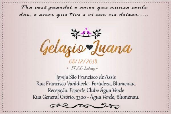 Convite Casamento 10x15
