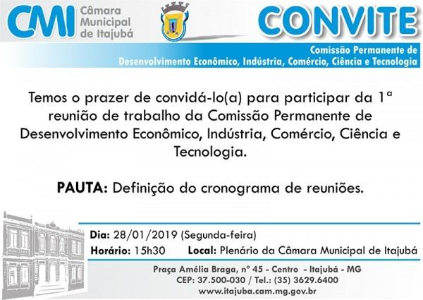 Convite  1ª Reunião De Trabalho Da Comissão Permanente De