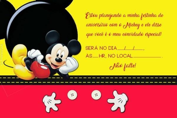 Convite De Aniversário Para Imprimir