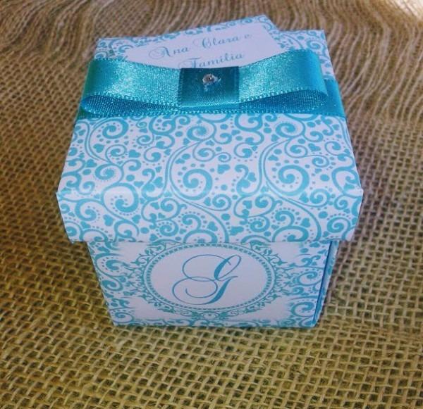 200 Convites Caixa De 15 Anos Azul Tiffany + 400 Individuais