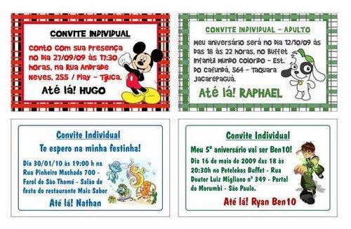 Convites Individuais Para Festa    Avaré