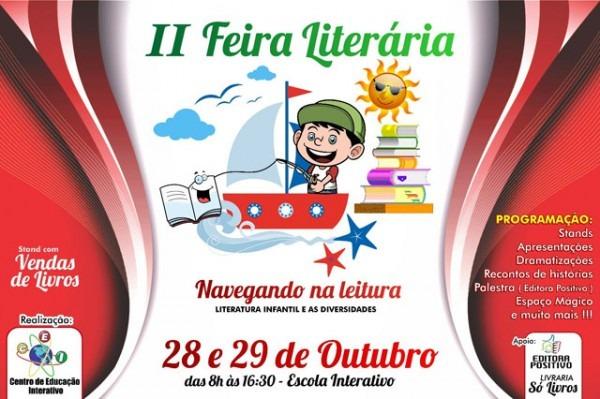 Convite  Ii Feira Literária Do Centro De Educação Interativo