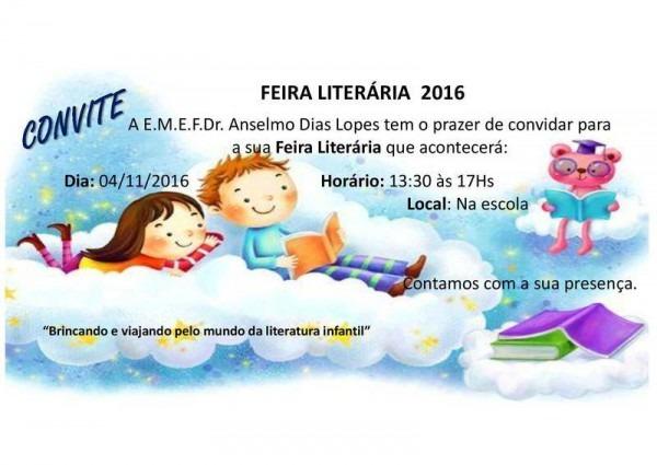 """Emef Anselmo Dias Lopes Realizará """"feira Literária"""" No Dia 04"""