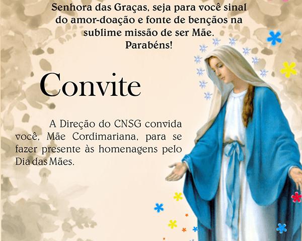 Convite – Homenagem às Mães – Colégio Nossa Senhora Das Graças