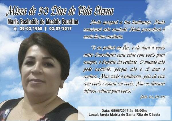 Blog Do Dj Bigode  Convite De Missa De 30 Dias De Vida Eterna