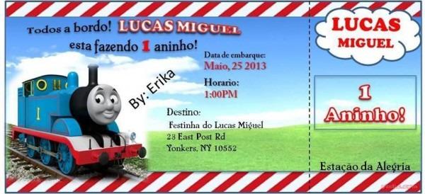Thomas And Friends Invitation  Convite De Aniversario Thomas E