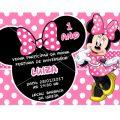 Convite De Aniversario Da Minnie Rosa