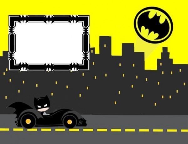 Convite Para Imprimir Batman