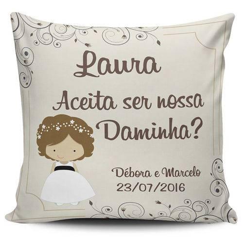 Almofada Casamento Personalizada Convite Daminha Nas Lojas
