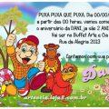 Convite Cocorico Com Foto