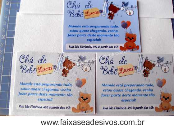 Convite Personalizado Infantil C401