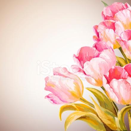 Cartão De Modelo De Convite De Flores De Primavera Stock Vector