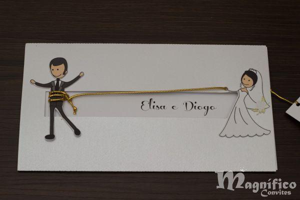 Convite De Casamento Laçando O Noivo