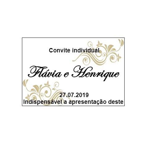 400 Convites Individuais De Casamento
