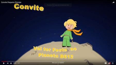 Convite Animado Pequeno Príncipe( Vídeo)