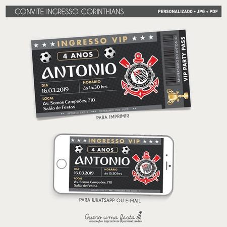 Convite Ingresso Corinthians