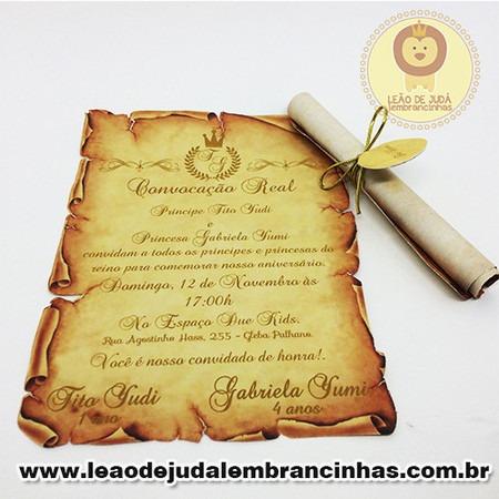 Convite Pergaminho