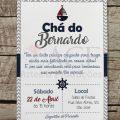 Convite Cha De Bebe Bernardo