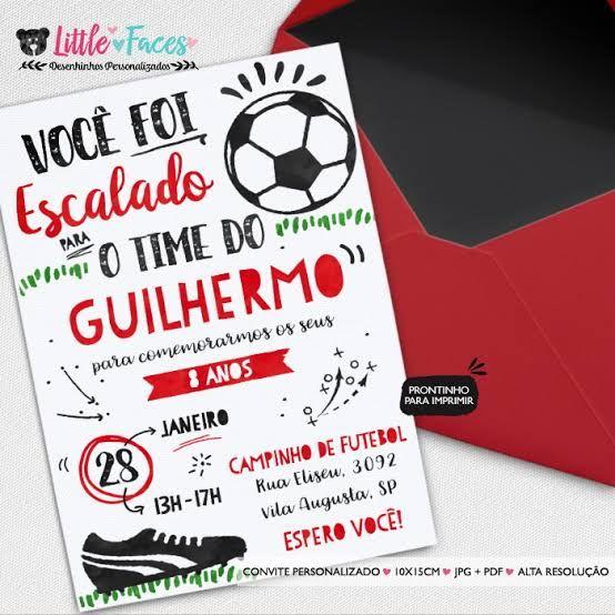 Resultado De Imagem Para Convite Aniversario Flamengo Montar