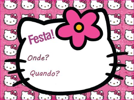 Convite Hello Kitty Para Imprimir