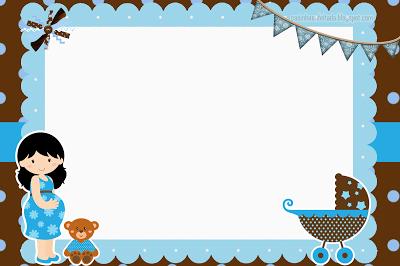 Kit Chá De Bebê Azul E Marrom Para Imprimir Grátis
