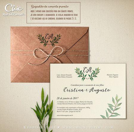 Convite Casamento Alecrim
