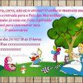 Convite De Aniversario Da Alice No Pais Das Maravilhas