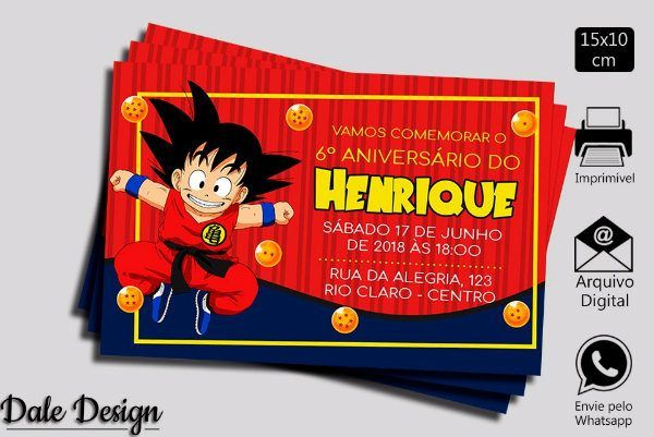 Dragon Ball  Decoração De Festa De Aniversário Infantil