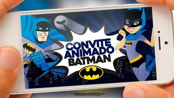 Convite Animado Batman Grátis Para Baixar E Editar