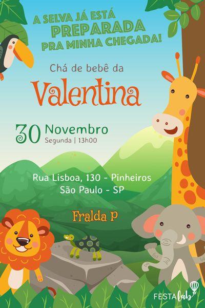 Pin Em Convite Virtual De Chá De Bebê Online