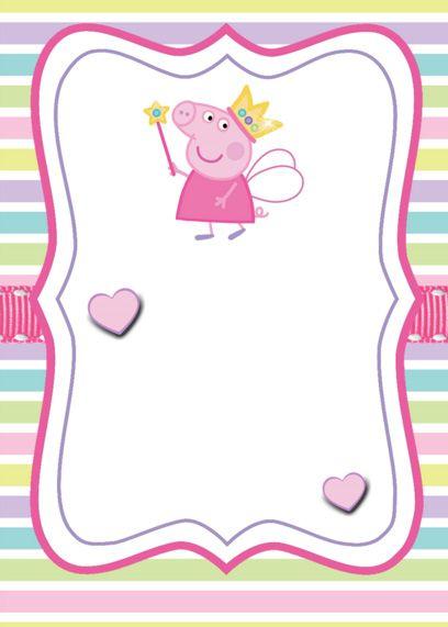 Convite Peppa Pig 107 Png Grátis Para Baixar Jpg,png