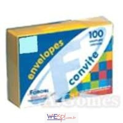 Wespi Atacado   Envelope Convite Colorido 162x229mm Amarelo C Plus