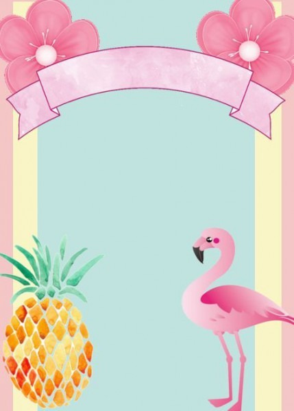 Lindo Convite Para Editar E Imprimir Convite No Tema Flamingo
