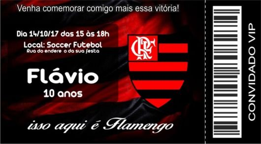 Um Convite Do Flamengo Inspirado Nos Ingressos Para Os Jogos